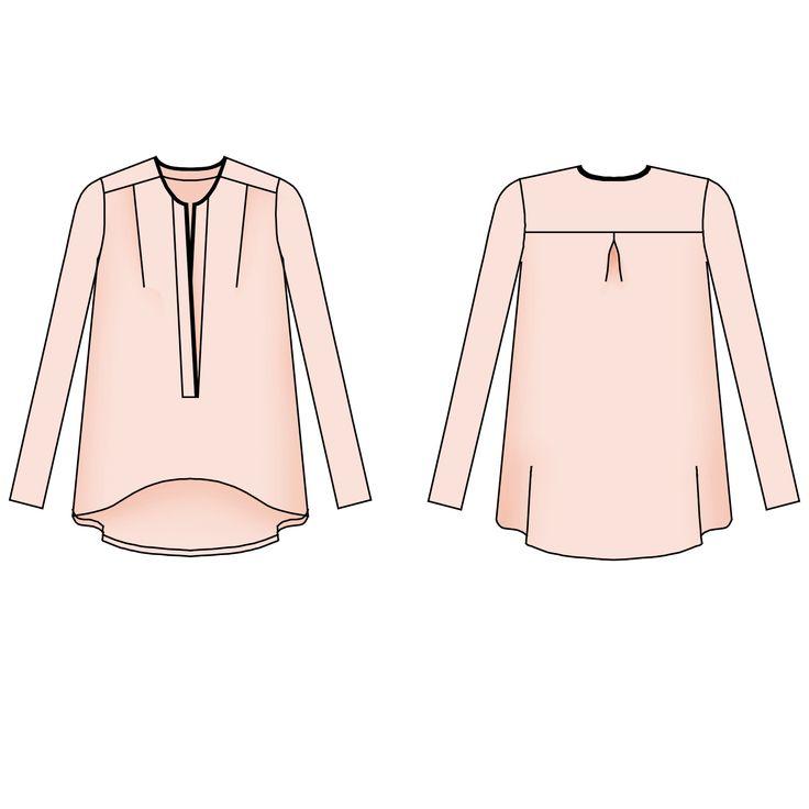 patron de couture femme - Manteau Marumi