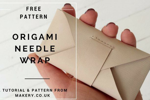 Free pattern: Origami leather needle wrap (Sewing                                                                                                                                                                                 More