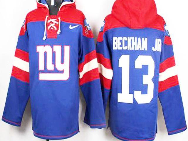 Odell Beckham Jr New York Giants Royal Blue Player Pullover NFL Hoodie