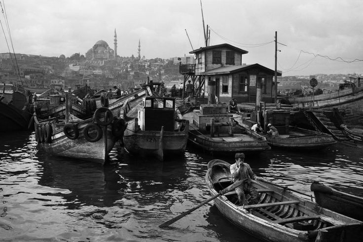 Turkey, 1956, Boatmen at the repair wharf, photo by Ara Güler (please repin with photographers credits)
