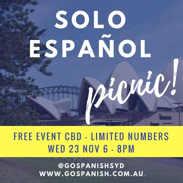 Free Event - Come to practice your Spanish with us. Limited numbers - Intermediate level +