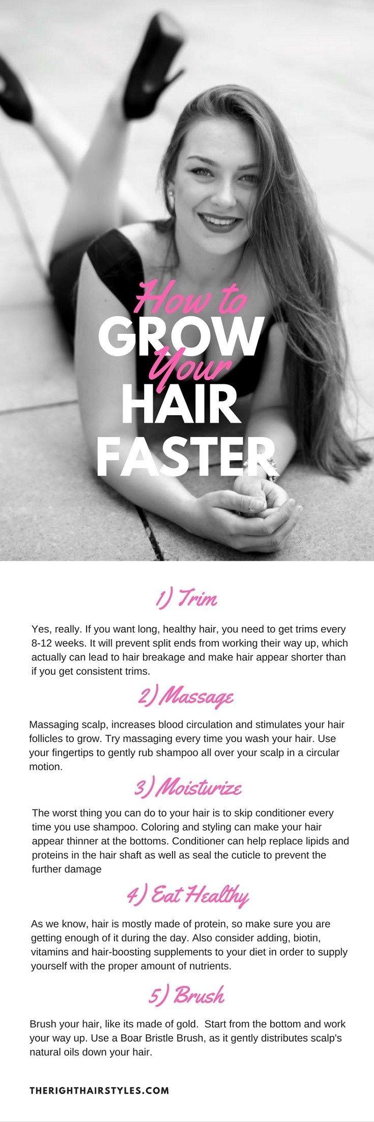Wie Sie Ihr Haar schneller wachsen lassen