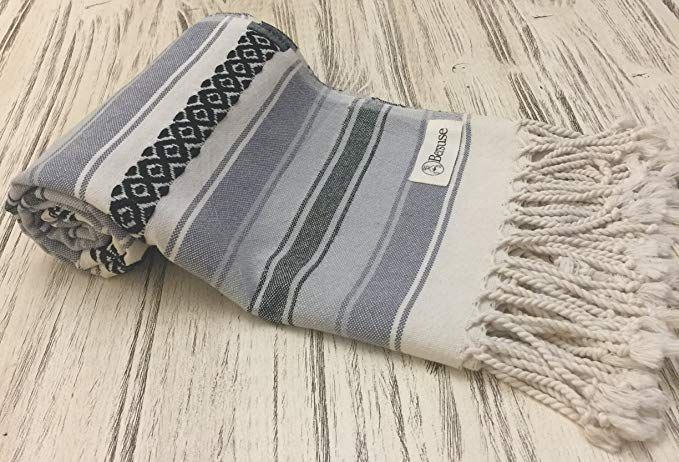Bersuse 100 Cotton San Jose Turkish Towel Bath Beach Fouta