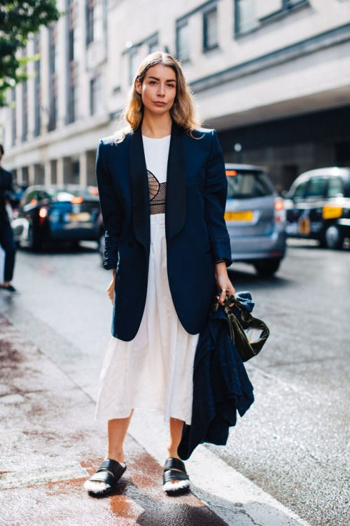 Street Style trends : Nothing says simple and classy better than throwing a blazer…    Nothing says simple and classy better than throwing a blazer over a plain white dress.  - #StreetStyle https://youfashion.net/trends/street-style/street-style-nothing-says-simple-and-classy-better-than-throwing-a-blazer/