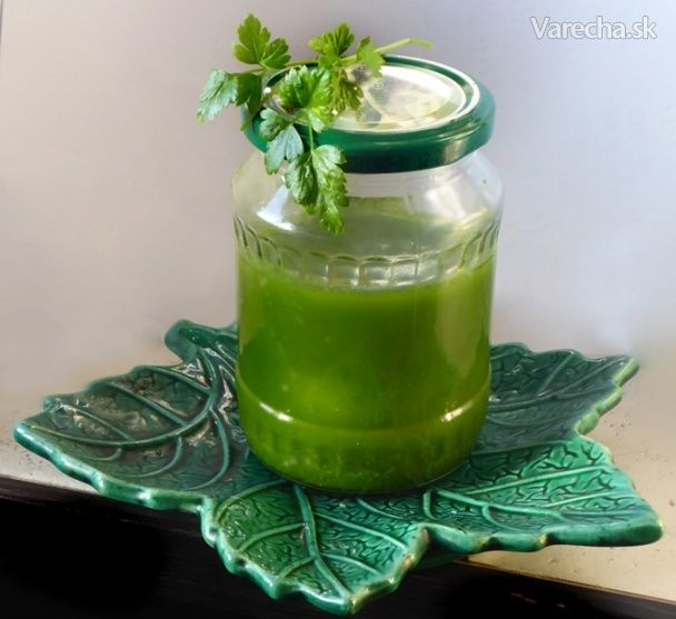 Olej ze zelené petrželky - Recept