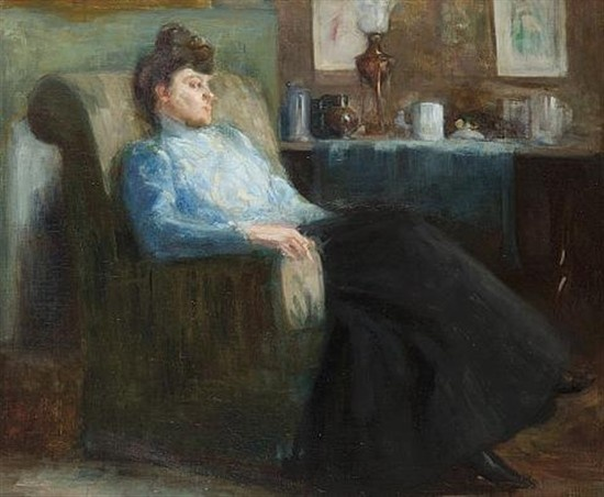 Władysław Podkowiński - Portrait of a lady