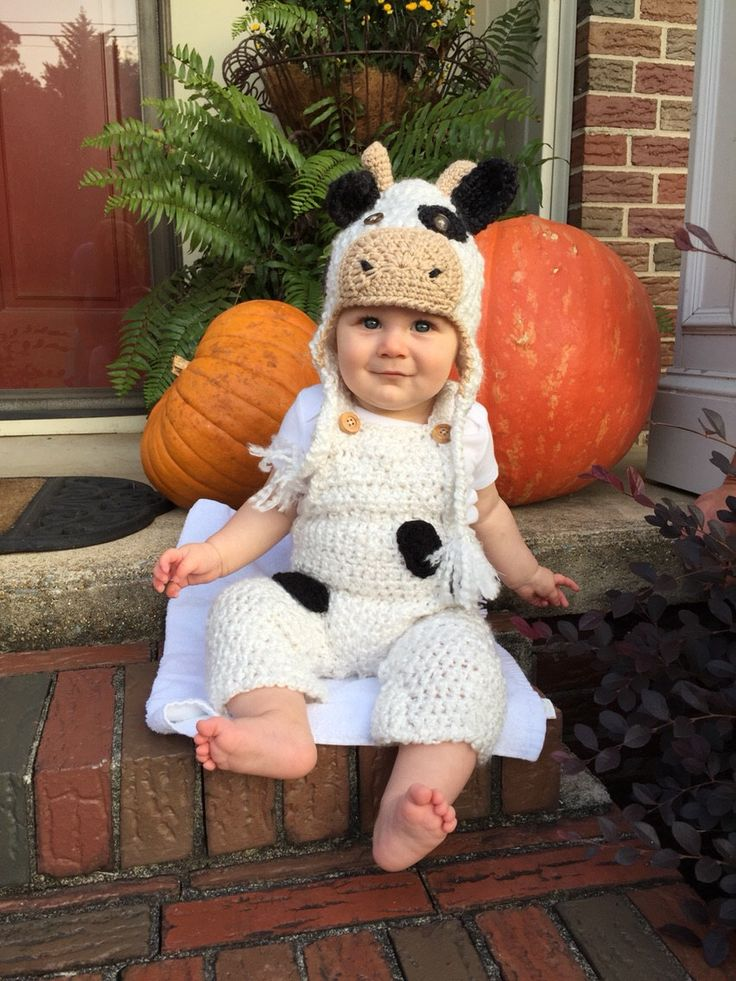 baby cow costume cow hat and overalls set cow hat halloween baby costume - Baby Cow Costume Halloween