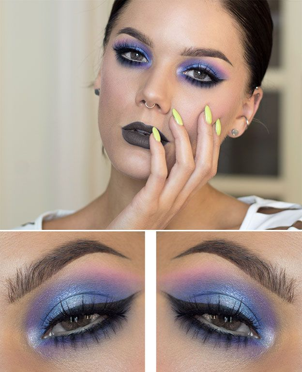 Модный макияж для серых глаз 2015 фото
