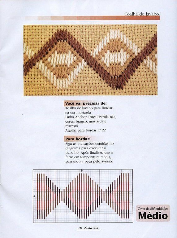 Bordado yugoslavo | Aprender manualidades es facilisimo.com: Office, Straight Stitch, Point, Embroidery Patterns, Bordado Florentino, Flores Tela2, Bordados Em Ponto Reto