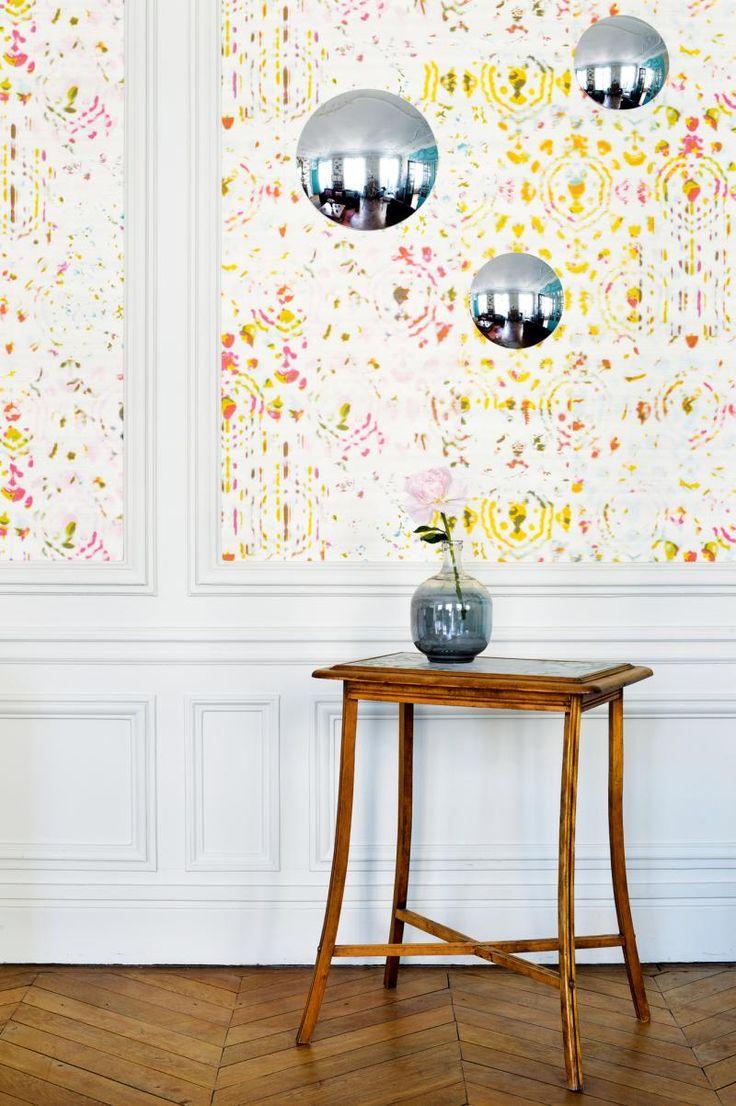 Piet hein eek scrapwood wallpaper modern wallpaper los angeles - Convex Mirrors Modern Wallpaper By Elitis