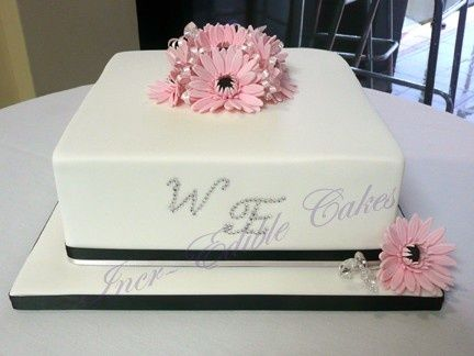single layer wedding cake - Google Search
