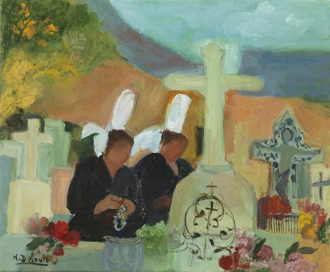Nancy Delouis - Le Cimetière Breton - Messum's | Fine Art Est.1963.