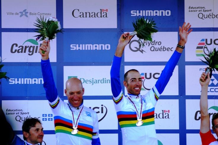 I fratelli Pizzi vincono l'argento nel ciclismo su strada.