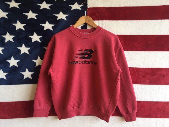 2a7bfb268d5c9 Vintage 90s New Balance Sweatshirt Marron Colour New Balance ...