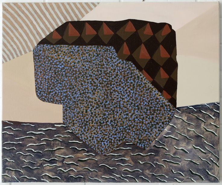 Adrienne Vaughan, Plyx, 2011, Oil and enamel on canvas, 605 x 505mm