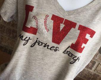 Camiseta de béisbol cordones con monograma camisa por MamaGlitter
