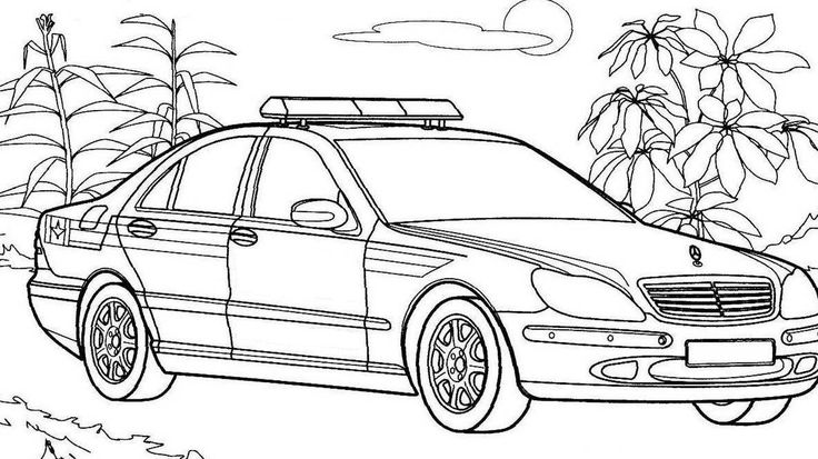mercedes polizeiauto zum ausdrucken mercedes drawings