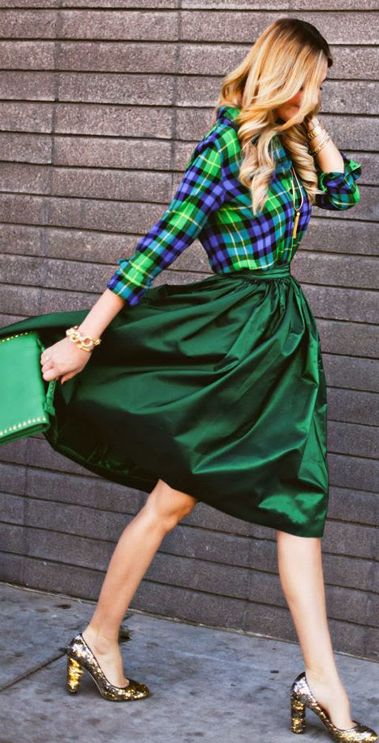 Gorgeous green midi