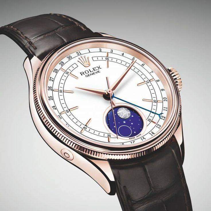 Brand: Rolex    Model: Cellini Moonphase    Key Features:      Rolex proprietary 18 ct Everose Gold    Latest edition to the Rolex flagship line    Features a rare piece of meteorite in the moon phase mechanism    First Rolex moonphase since 1950's (model ref.