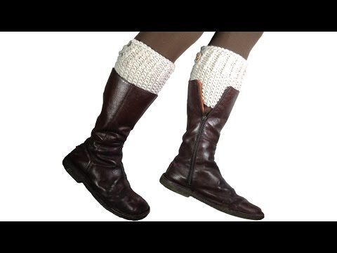 How to Loom Knit Boot Cuffs (DIY Tutorial) - YouTube
