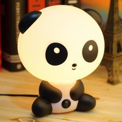 REMYCOO® Créatif Veilleuse LED Lampe de Chevet pour Enfant Bébé Panda Cartoon Lumière de Nuit