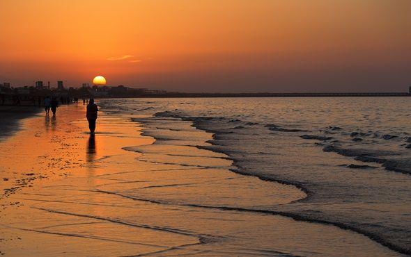 Muscat Beach sunset, Oman