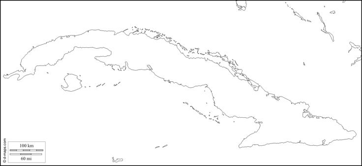 Cuba Free Map Free Blank Map Free Outline Map Free Base Map