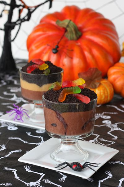 Another classic. Use chocolate pudding for your mud and put some crushed oreos on top for dirt. Hide those gummy worms in there for eeek factor!
