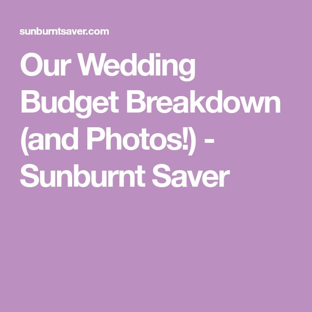 Best  Wedding Budget Breakdown Ideas On   Wedding