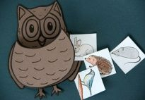 Folded Owl - Craft Template - Lapbook resources for children in pre-K and kindergarten from KiGaPortal.com