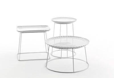 Tavolino Il piato e' servito - / Ø 60 cm - Piatto in ceramica rimovibile