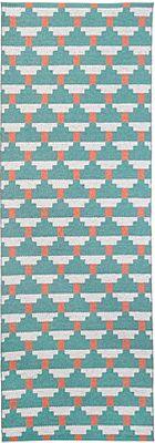 Plastic rug Confect Coral by Brita Sweden