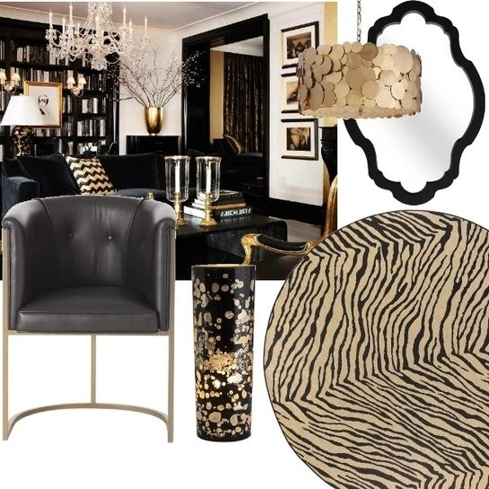 Black And Gold Bold Home Decor