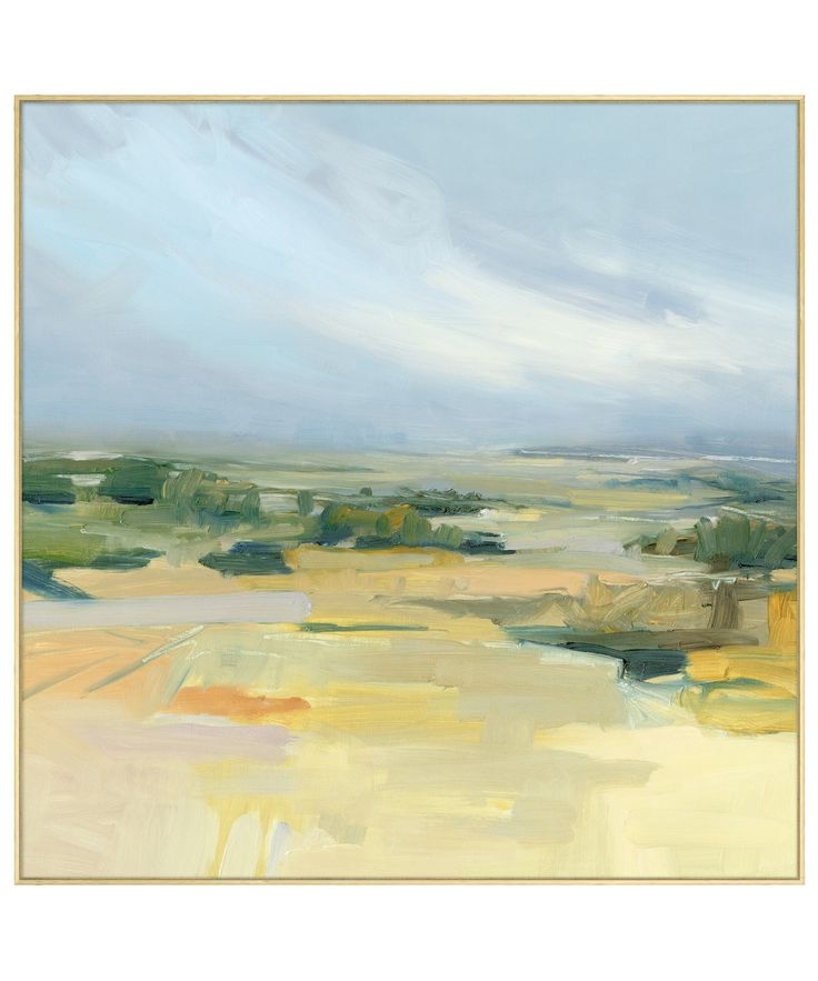 - Prairie Mid Day - large abstract landscape painting printed on stretched…