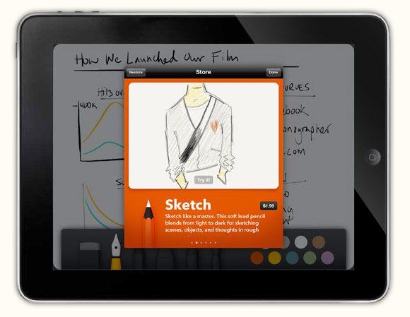 Paper: the iPad sketchbook app