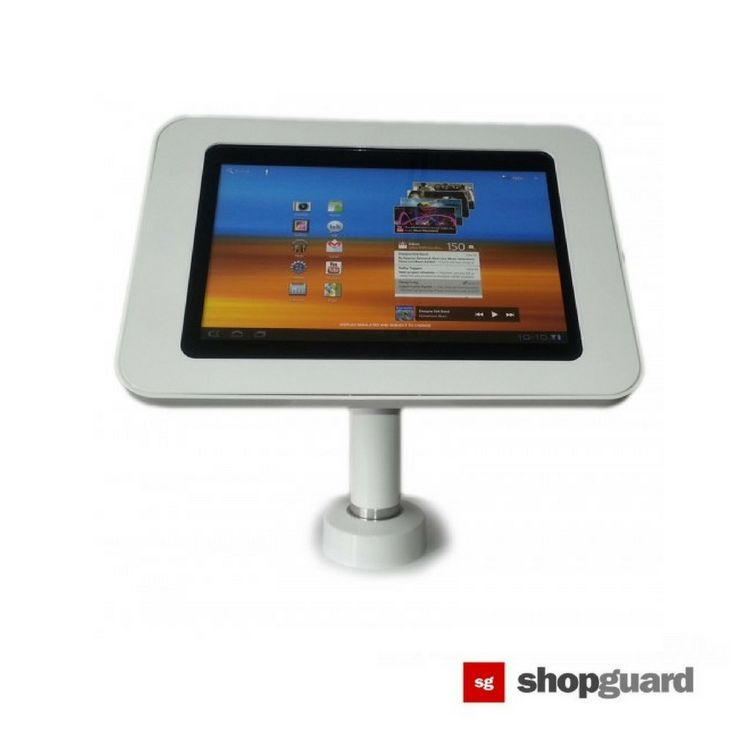 SG Universal Tablet and iPad Table Top Stand Stands provide a great way to use these devices for both personal and business needs. It Provides device security, either from falling or theft since it's a lot more difficult for anyone to steal your device when it's on a stand.  #shopsecurity #antitheft #tablet #ipad #ipadstand