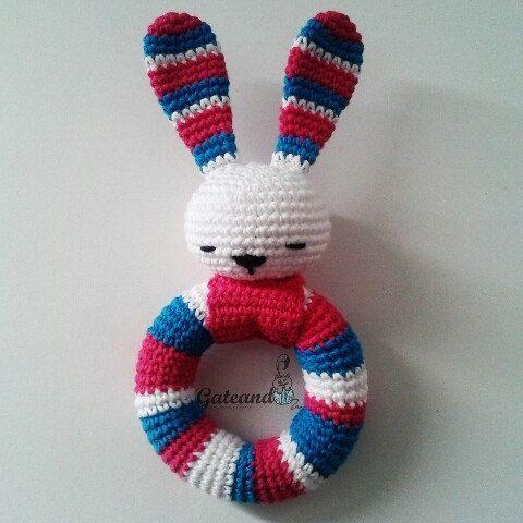 New colors!!! Rattle amigurumi bunny