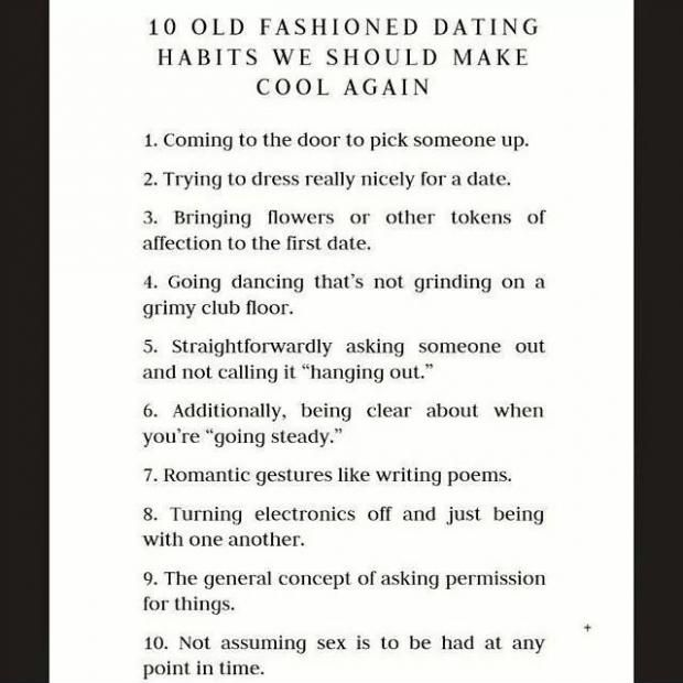 Old fashioned dating vs modern dating