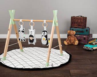 Moderne houten Baby-Gym zachte Gym dieren speelgoed / spelen