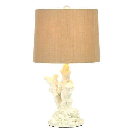white coral reef table lamp products coral reefs and tables. Black Bedroom Furniture Sets. Home Design Ideas