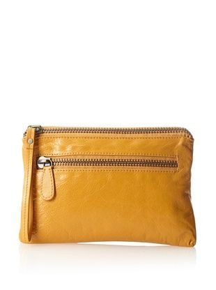 62% OFF Latico Women's Clara Zippered Wristlet, Gold