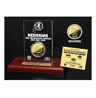 NFL® Washington Redskins Super Bowl Champs 24K Gold-Plated Coin in Etched Acrylic