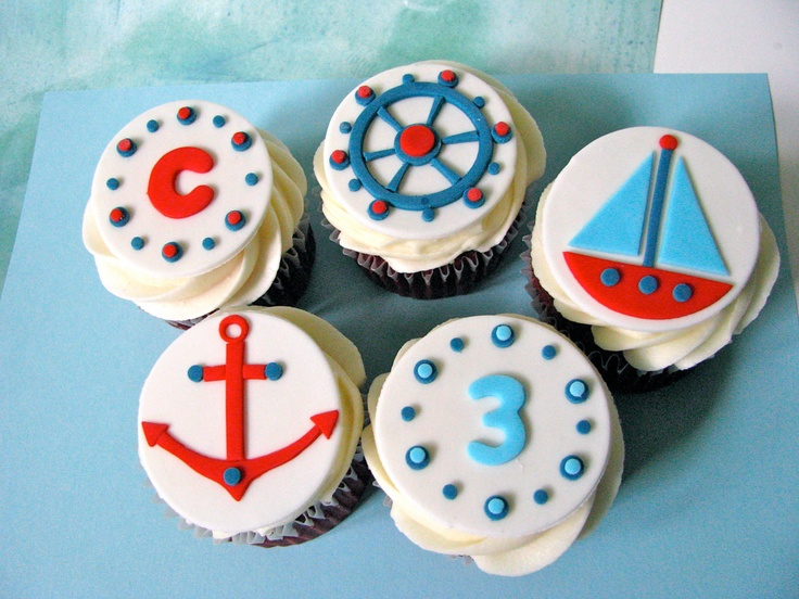 The 25+ best Nautical cupcake ideas on Pinterest Sailor ...
