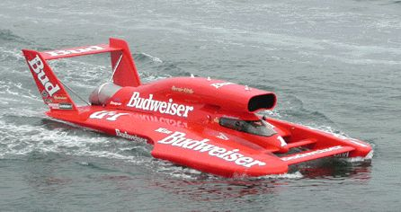 hydroplanes | Russ Wicks Pilotes Miss Budweiser Unlimited Hydroplane