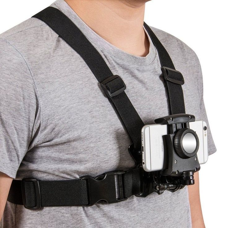 Mobile Phone Chest Mount Harness Strap Holder Cell Phone Clip action Camera POV #Coreal