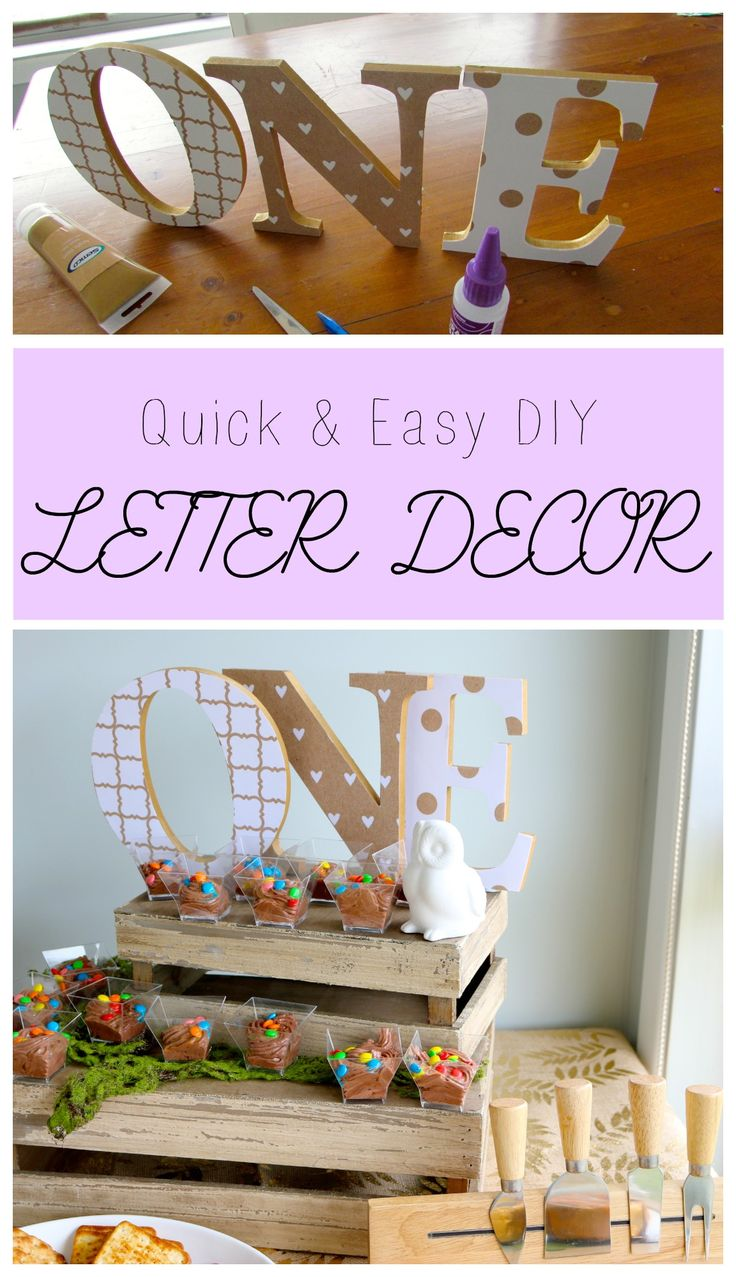 A quick and easy tutorial on making your own DIY letter décor; perfect for a special occasion or to decorate your child's room
