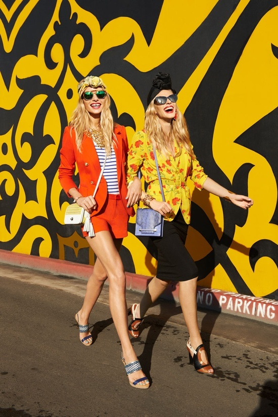 Anne V and Jessica Hart for Harper's Bazaar by Tommy Ton