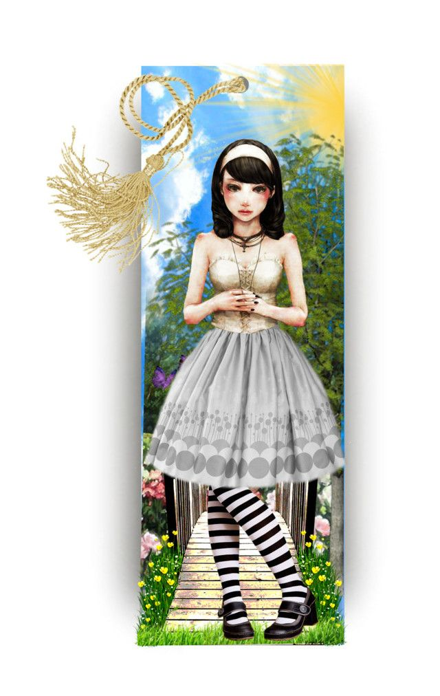 Legs Eleven Bookmark.. by vkevans on Polyvore featuring art and vkevans