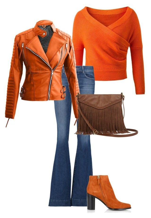 """Pompoen oranje rules"" by colourmyday on Polyvore featuring mode, J Brand, Chloé en T-shirt & Jeans"