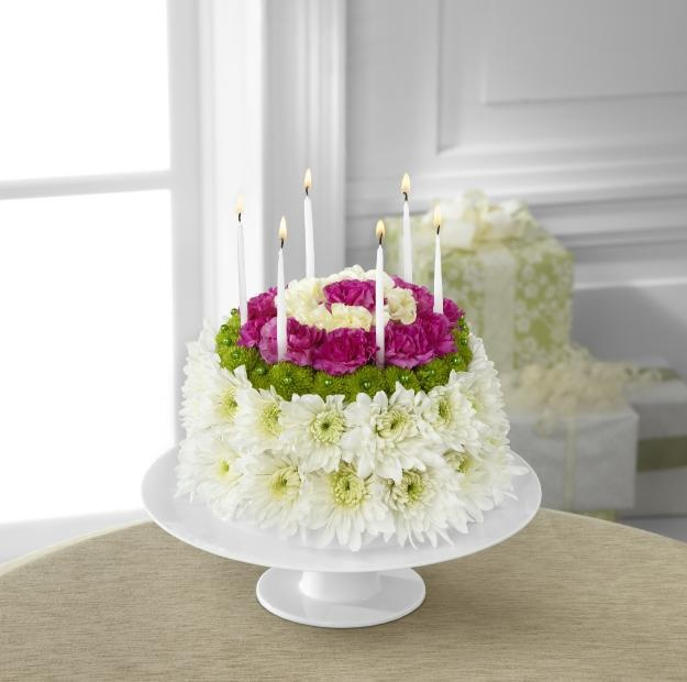 FTD Wonderful Wishes Floral Cake